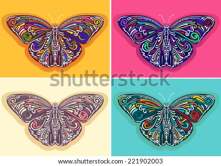 Vector Butterfly - stock vector