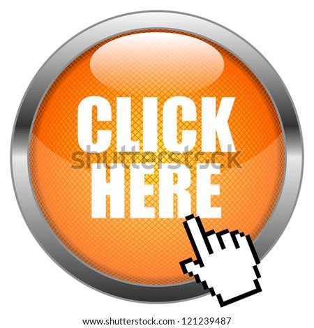 Vector Button Click Here - stock vector