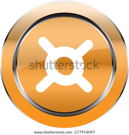Vector Button  Currency symbol - stock vector