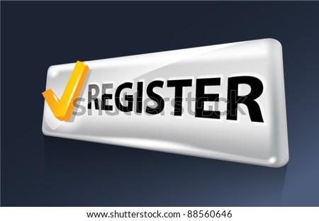 Vector button. Register. - stock vector