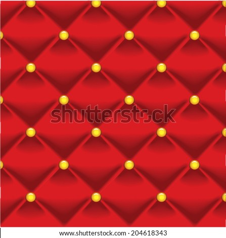 Vector Buttoned on the red background. Repeat pattern - stock vector