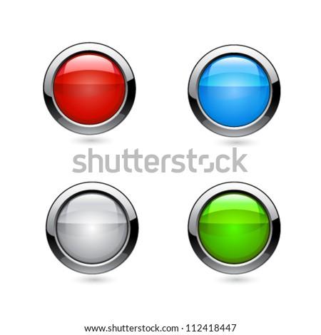 Vector buttons - stock vector