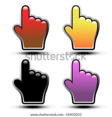 Vector buttons of hand - stock vector