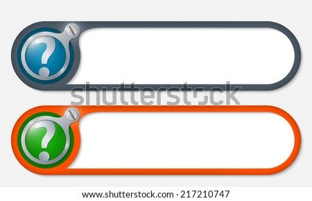 vector buttons with screw and question mark - stock vector