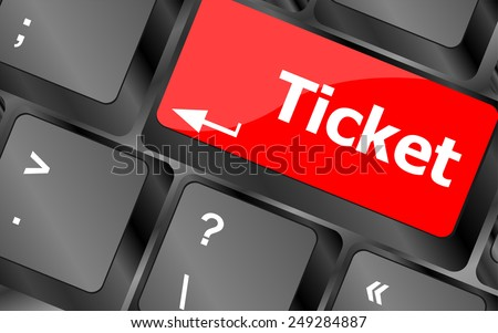 vector Buy tickets computer keyboard key - stock vector