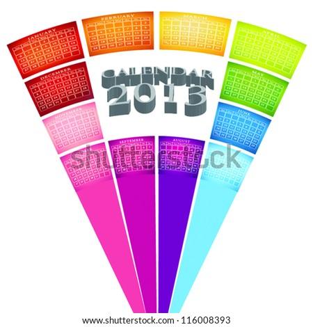 Vector calendar 2013 - stock vector