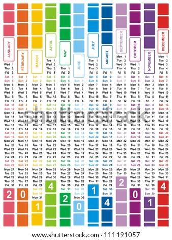 VECTOR - Calendar Design 2014 - stock vector