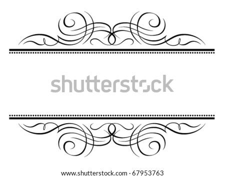 Vector calligraphy vignette penmanship decorative frame, not trace use it by part - stock vector