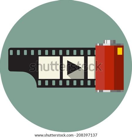Vector Camera Film Roll  - stock vector