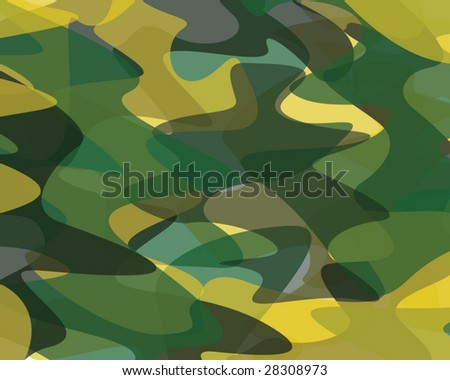 Vector camouflage background - stock vector