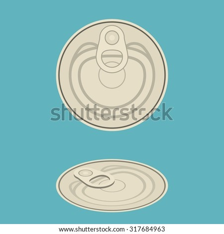 vector canned,flat design - stock vector
