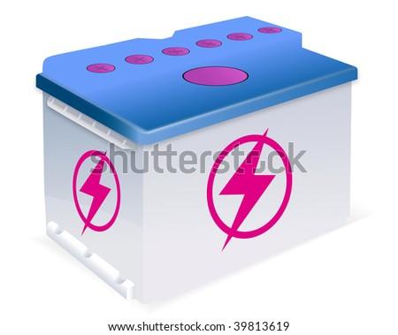 Vector car battery - stock vector