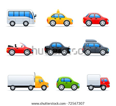 Vector car icons - stock vector