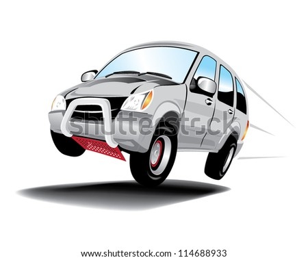 Vector car isolated on white - stock vector
