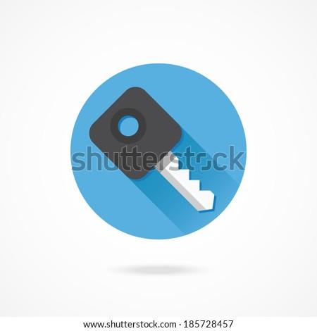Vector Car Key Icon - stock vector