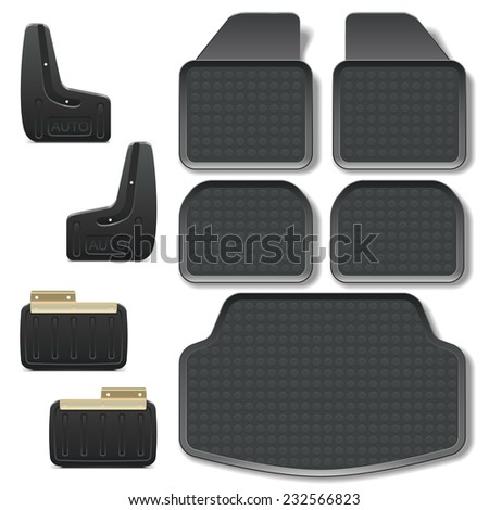 Vector Car Mats set 2 - stock vector