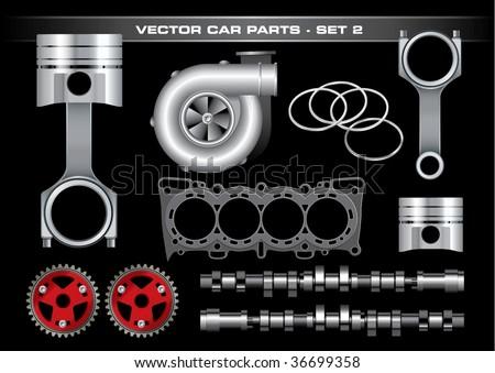 Vector Car Parts-Set 2 - stock vector
