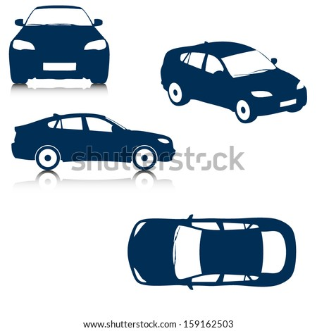 Vector car silhouettes - stock vector