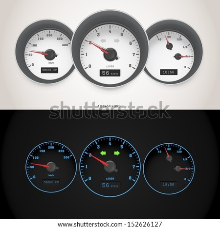 vector car speedometer - stock vector