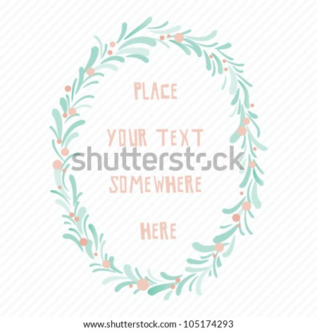 Vector card design template. Invitation. Frame template. - stock vector