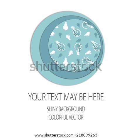 Vector card template with bulb elements. Eps10 - stock vector