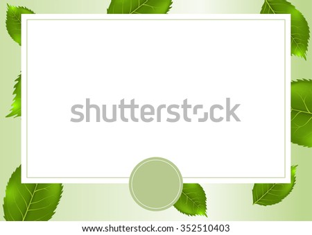 Vector card with summer background - stock vector