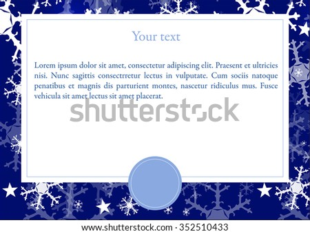 Vector card with Winter background - stock vector