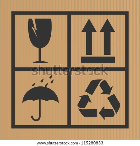 vector cardboard symbols - stock vector