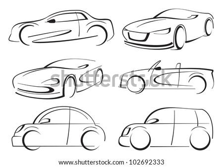 vector cars - stock vector