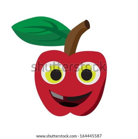 Vector - Cartoon,Apple. - stock vector