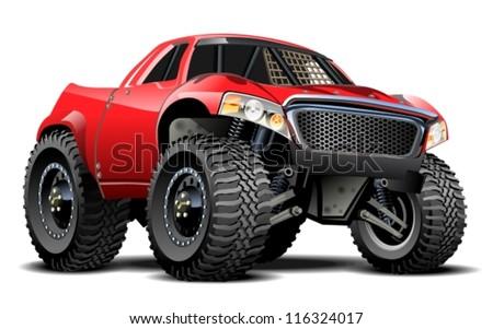 Vector Cartoon Buggy (one-click repaint) - stock vector