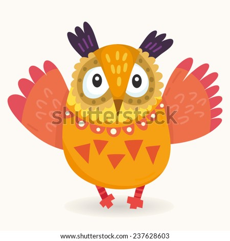 Vector Cartoon Illustration of funny character in awesome colors. - stock vector