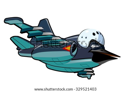 Vector Cartoon Jetbird 2. Available EPS-10 vector format separated by groups and layers for easy edit - stock vector