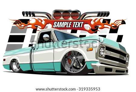 Vector cartoon Low rider. Available EPS-10 separated by groups and layers with transparency effects for one-click repaint - stock vector