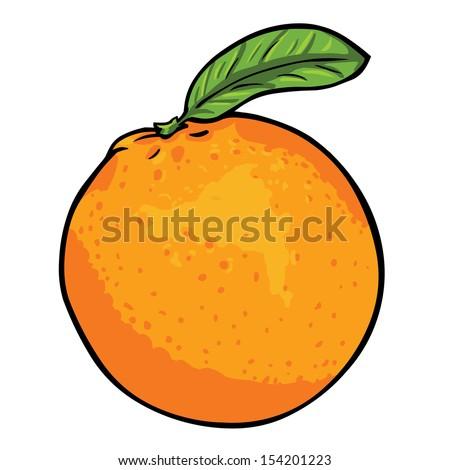 vector cartoon orange - stock vector