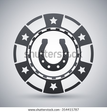 Vector casino chip icon - stock vector