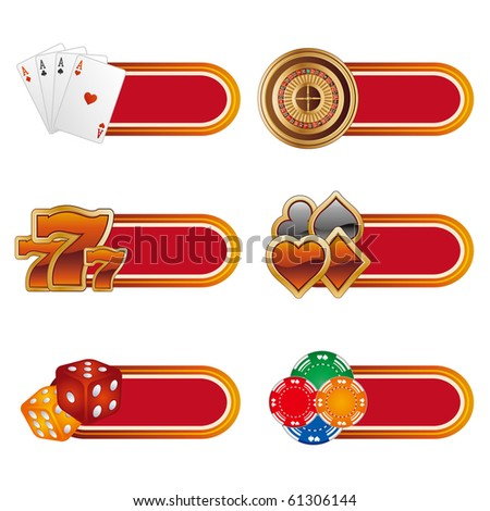 vector casino design element - stock vector