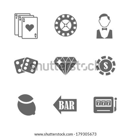 Vector casino icons.  - stock vector
