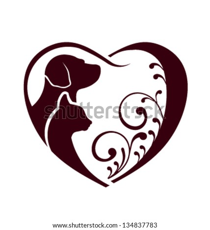 Vector Cat Dog care. - stock vector