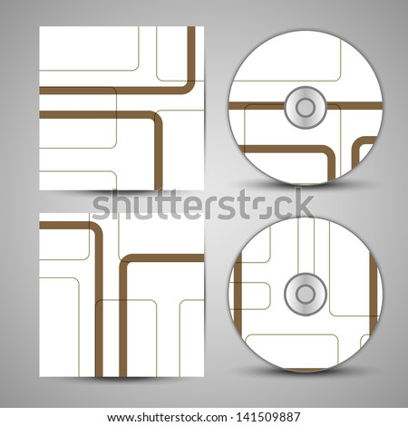 Vector cd cover  set for your design, abstract Illustration. - stock vector