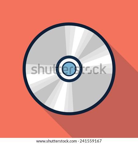 Vector cd icon - stock vector