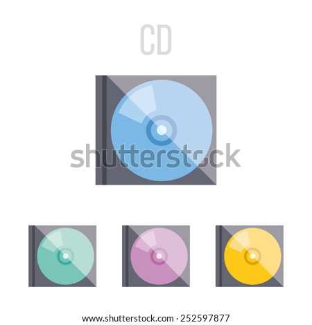 Vector CD icons. - stock vector