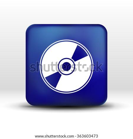 Vector CD or DVD icon disc vector compact disk audio media. - stock vector