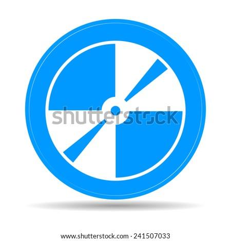 Vector CD or DVD icon. Flat vector illustrator Eps 10 - stock vector