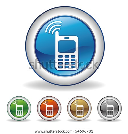 vector cell-phone button set - stock vector