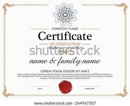 Vector certificate template.