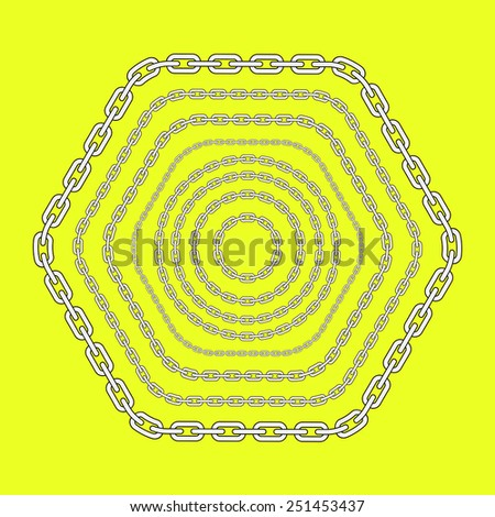 Vector Chain Shapes - stock vector