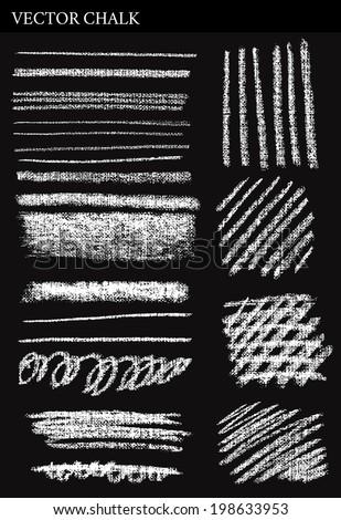 Vector Chalk Lines. Hand drawn illustration. - stock vector
