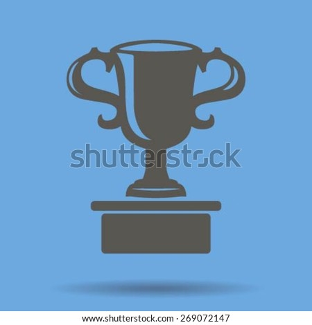 Vector champions cup icon - stock vector