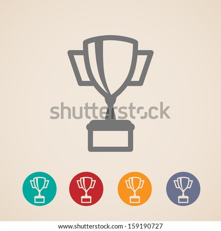 vector champions cup icons  - stock vector